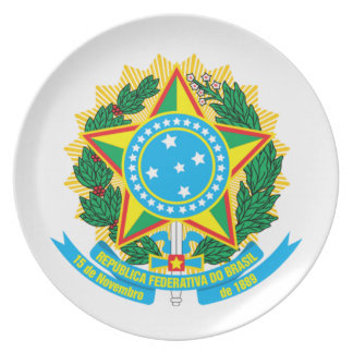Brazil coat of arms plate