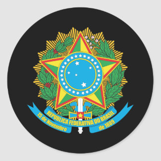 Brazil Coat Of Arms Round Sticker