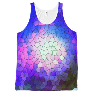 Brazil collection - Thewalk- Blue version- Unissex All-Over-Print Tank Top