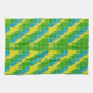 Brazil color square ブラジルカラー タイル模様 towel