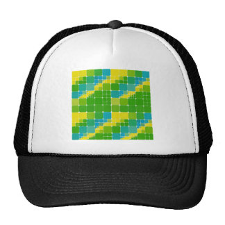 Brazil color square ブラジルカラー タイル模様 trucker hat