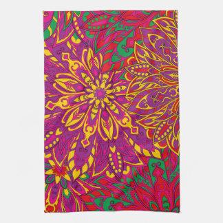 Brazil colorful mandala pattern kitchen towels