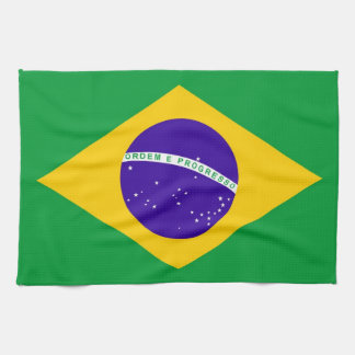 brazil country flag towel
