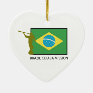 BRAZIL CUIABA MISSION LDS CERAMIC HEART ORNAMENT