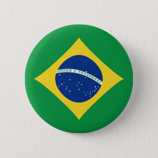 Brazil Fisheye Flag Button
