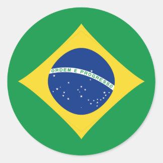 Brazil Fisheye Flag Sticker