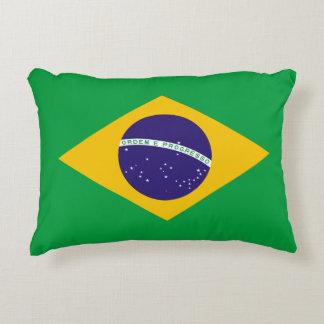 Brazil Flag Accent Pillow