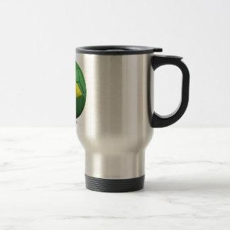 Brazil Flag Ball Travel Mug
