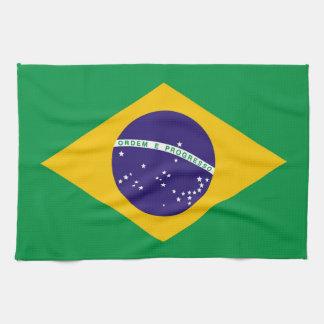 Brazil flag Brazilian Hand Towels