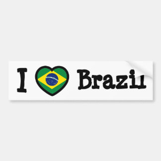 Brazil Flag Bumper Sticker