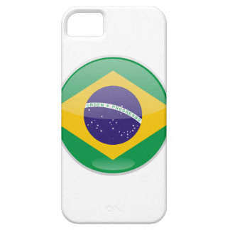 Brazil Flag Button iPhone 5 Cover