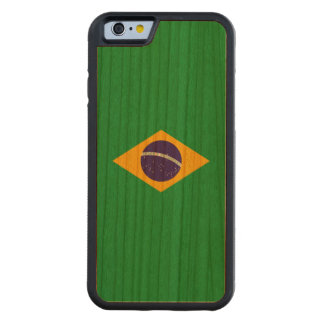 Brazil Flag Carved Cherry iPhone 6 Bumper Case