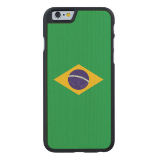 Brazil Flag Carved Maple iPhone 6 Case
