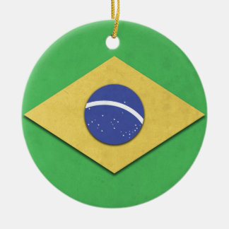 Brazil Flag Ceramic Ornament