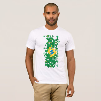 Brazil Flag Colors, Poly Art T-Shirt