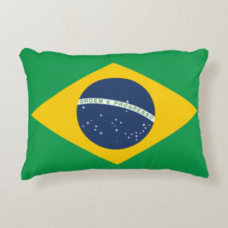 Brazil Flag Decorative Pillow