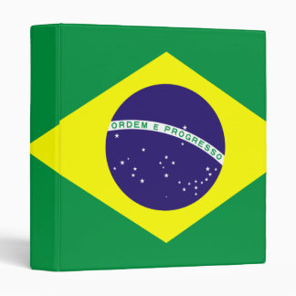 Brazil Flag Design Binder