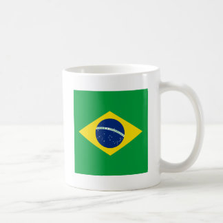 brazil flag design coffee mug