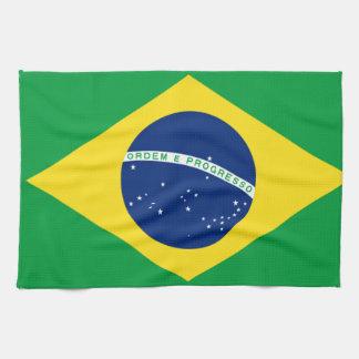 brazil flag design kitchen towel