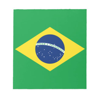 brazil flag design notepad