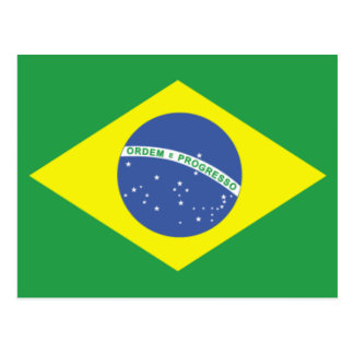 Brazil Flag Design Postcard