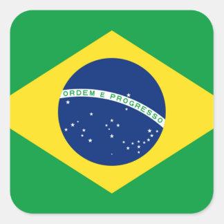 brazil flag design square sticker