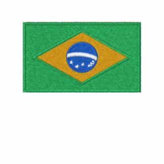 Brazil flag embroidered men's t-shirt