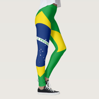 Brazil Flag full horizontal Leggings