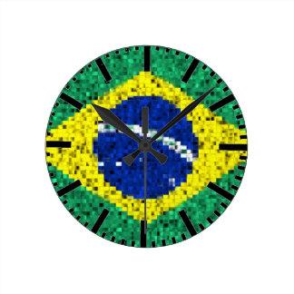 Brazil flag glitz glamour clock