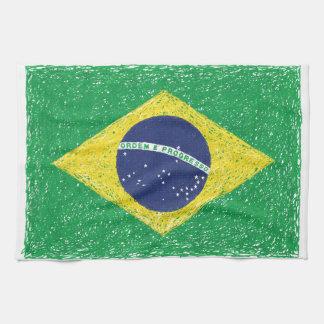 Brazil Flag *Hand-sketch* Brazilian Kitchen Towels