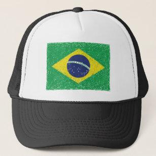 ab9c6a86068 Brazil Flag  Hand-sketch  Brazilian Trucker Hat