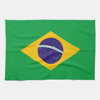 Brazil Flag Hand Towel