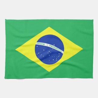 Brazil Flag Hand Towels