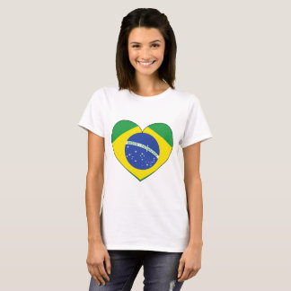 Brazil Flag Heart T-Shirt
