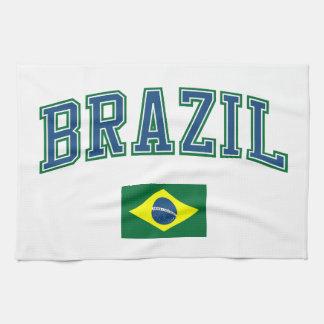 Brazil + Flag Kitchen Towels