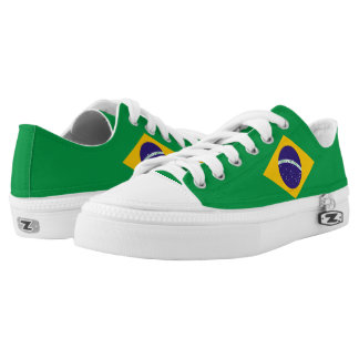 Brazil Flag Low-Top Sneakers