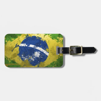 Brazil-Flag- Luggage Tag