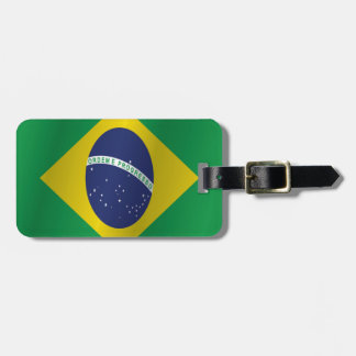 Brazil flag luggage tag