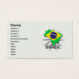 Brazil Flag Map 2.0 Business Card