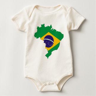Brazil Flag Map Symbol Brazilian Country Baby Bodysuit