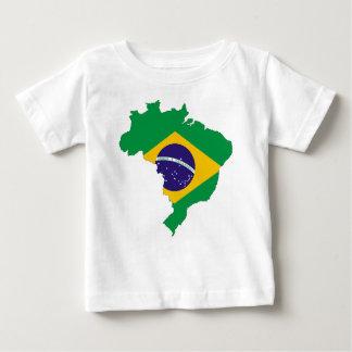 Brazil Flag Map Symbol Brazilian Country Baby T-Shirt