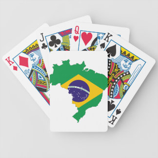 Brazil Flag Map Symbol Brazilian Country Bicycle Playing Cards