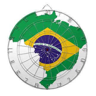 Brazil Flag Map Symbol Brazilian Country Dartboard