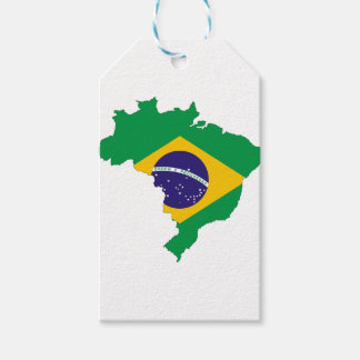 Brazil Flag Map Symbol Brazilian Country Gift Tags