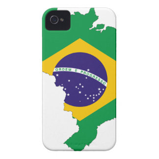 Brazil Flag Map Symbol Brazilian Country iPhone 4 Case