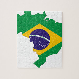 Brazil Flag Map Symbol Brazilian Country Jigsaw Puzzle