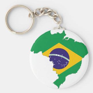 Brazil Flag Map Symbol Brazilian Country Keychain