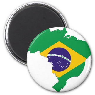 Brazil Flag Map Symbol Brazilian Country Magnet