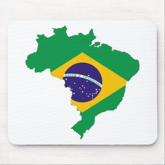 Brazil Flag Map Symbol Brazilian Country Mouse Pad