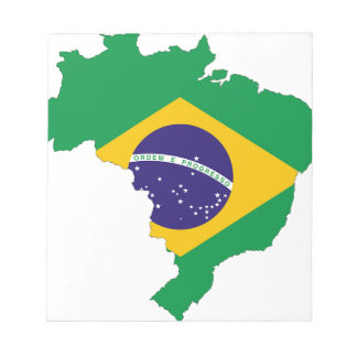 Brazil Flag Map Symbol Brazilian Country Notepad